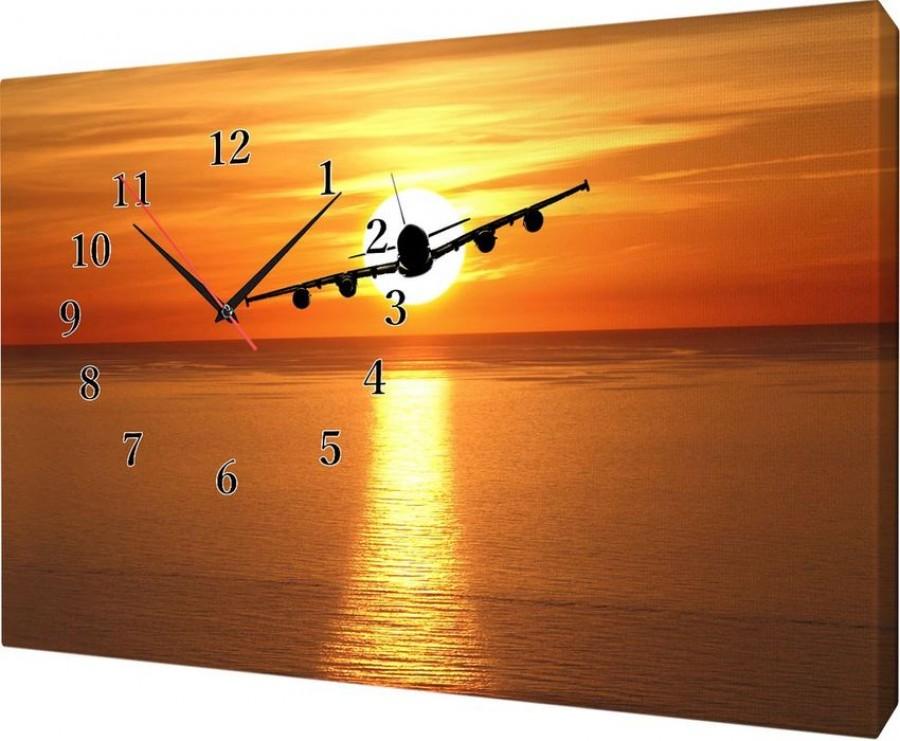 Часы на холсте 25х35 Ж785