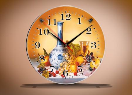 часы круглые под стеклом 33х33 В223